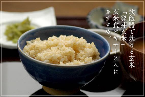 炊飯器で炊ける玄米 発芽玄米 玄米食ビギナーさんにおすすめ