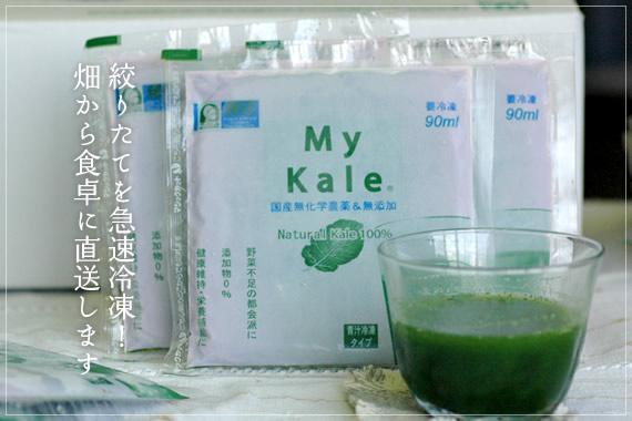 冷凍青汁(マイケール90) 原料のケールの産地につきまして