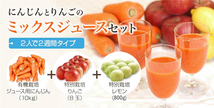にんじんジュース基本のセット Lサイズ - 2人で2週間