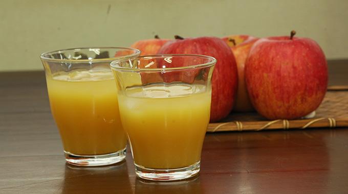 福田さんの有機りんご100%のジュース